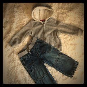 Carters Girls Hoodie/Jean Outfit